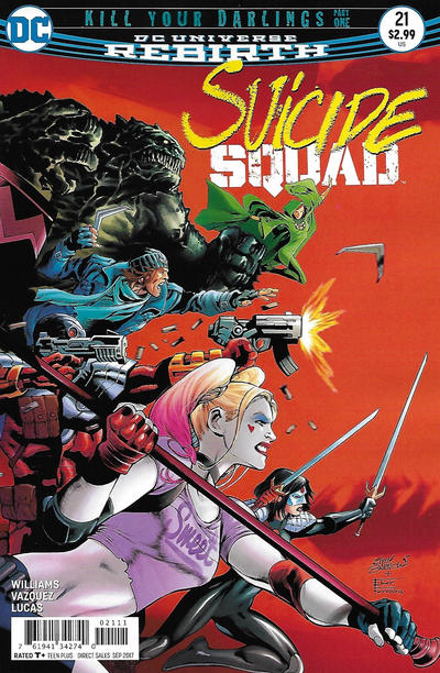 Cover for Suicide Squad (DC, 2016 series) #21 [Newsstand]