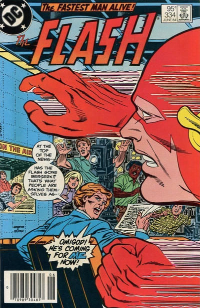 Cover for The Flash (DC, 1959 series) #334 [newsstand]