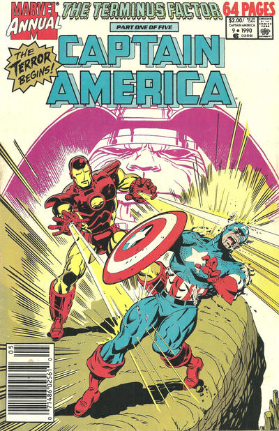 Cover for Captain America Annual (Marvel, 1971 series) #9 [Direct Edition]