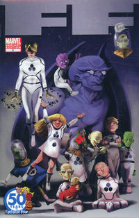 Cover Thumbnail for FF (Marvel, 2011 series) #9 [Fantastic Four 50th Anniversary]