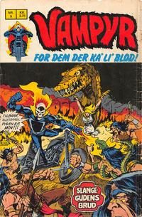 Cover Thumbnail for Vampyr (Interpresse, 1972 series) #5