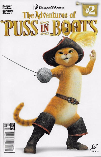 Cover for The Adventures of Puss in Boots (Titan, 2016 series) #2 [Cover A]
