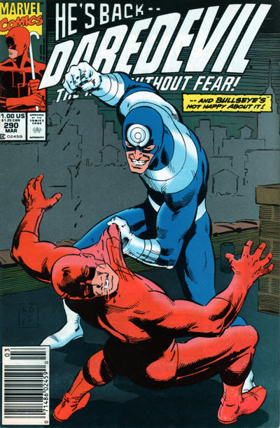 Cover for Daredevil (Marvel, 1964 series) #290 [Direct Edition]