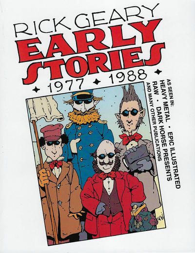 Cover for Early Stories 1977-1988 (Rick Geary, 2017 ? series)