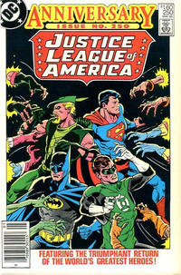 Cover for Justice League of America (DC, 1960 series) #250 [Direct Sales]