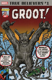 Cover Thumbnail for True Believers: Kirby 100th - Groot (Marvel, 2017 series)