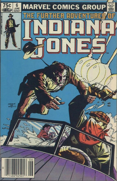 Cover for The Further Adventures of Indiana Jones (Marvel, 1983 series) #6 [Newsstand]