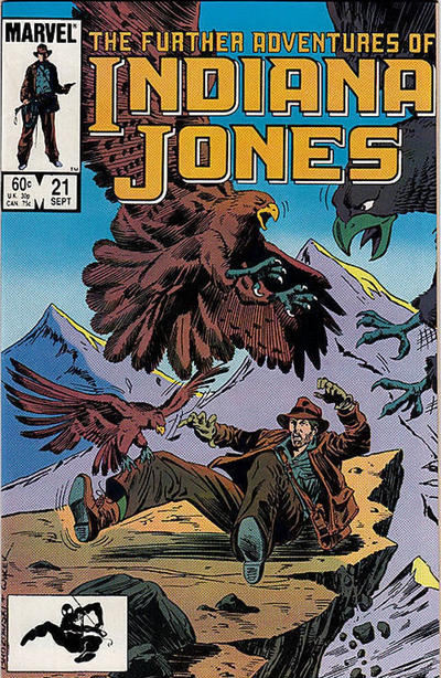 Cover for The Further Adventures of Indiana Jones (Marvel, 1983 series) #21 [Newsstand]