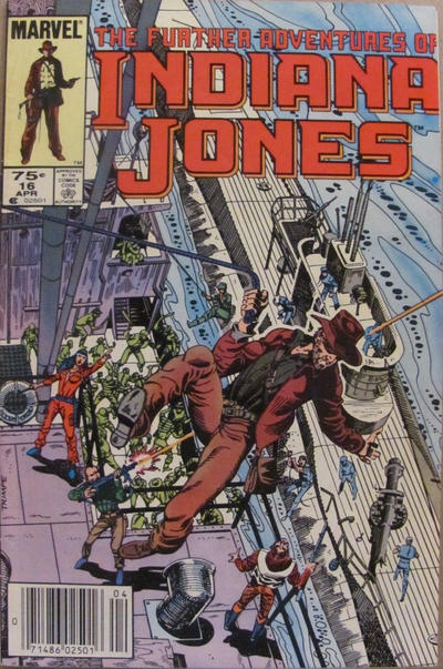 Cover for The Further Adventures of Indiana Jones (Marvel, 1983 series) #16 [Direct]