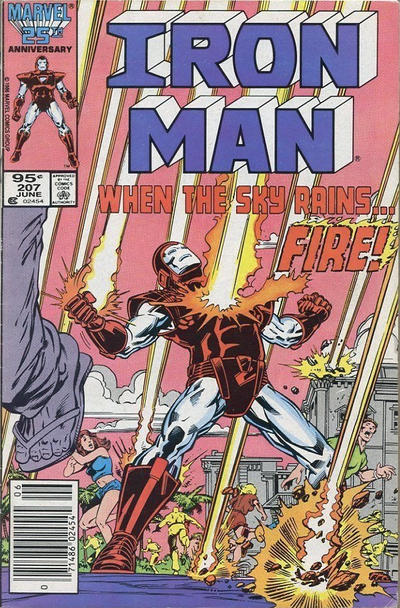 Cover for Iron Man (Marvel, 1968 series) #207 [Newsstand Edition]
