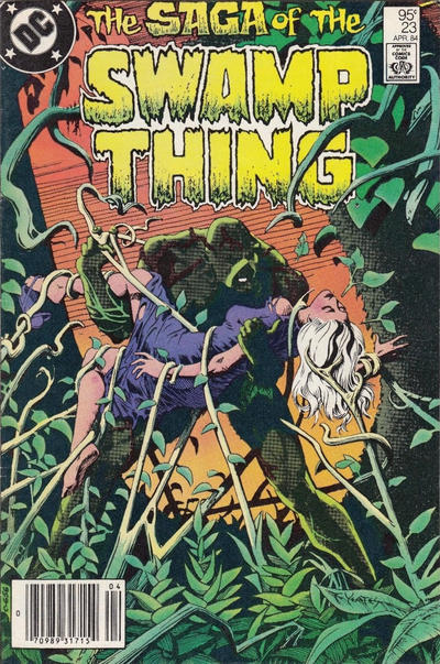 Cover for The Saga of Swamp Thing (DC, 1982 series) #23 [direct-sales]