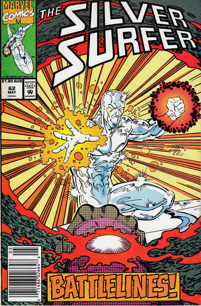 Cover for Silver Surfer (Marvel, 1987 series) #62