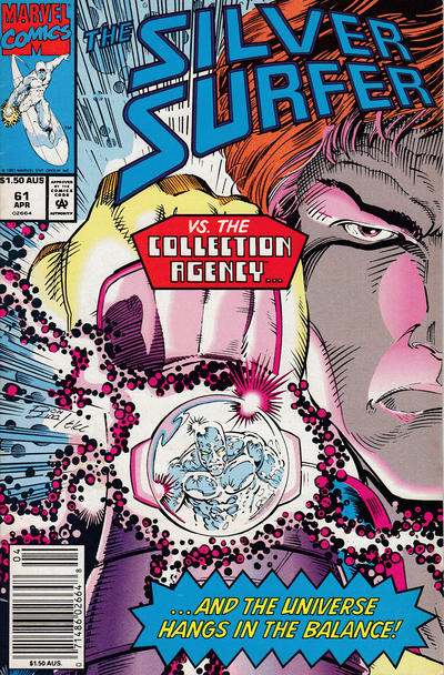 Cover for Silver Surfer (Marvel, 1987 series) #61 [Direct]
