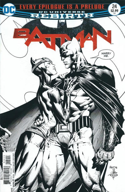 Cover for Batman (DC, 2016 series) #24 [Second Printing]