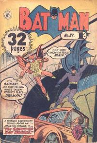 Cover for Batman (K. G. Murray, 1950 series) #87