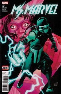 Cover for Ms. Marvel (Marvel, 2016 series) #21