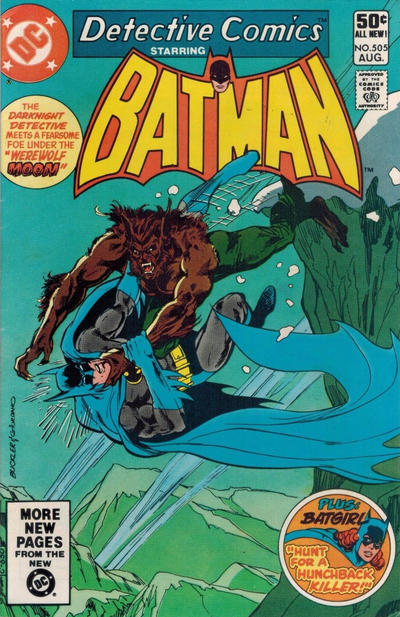 Cover for Detective Comics (DC, 1937 series) #505 [Newsstand]