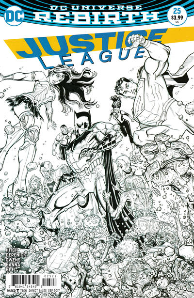 Cover for Justice League (DC, 2016 series) #25 [Nick Bradshaw Cover]