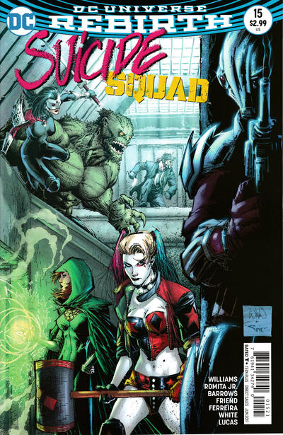 Cover for Suicide Squad (DC, 2016 series) #15 [Newsstand]