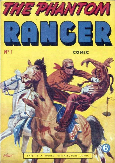 Cover for The Phantom Ranger (World Distributors, 1955 series) #1