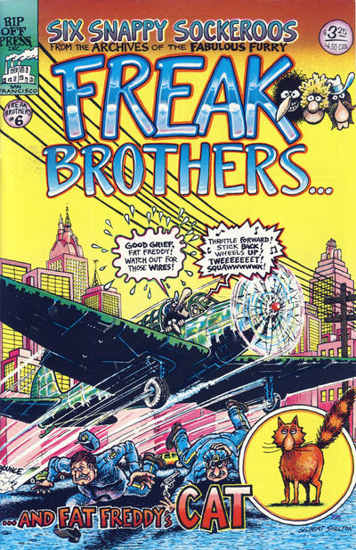 Cover for The Fabulous Furry Freak Brothers (Rip Off Press, 1971 series) #6 [2.95 USD 6th print]