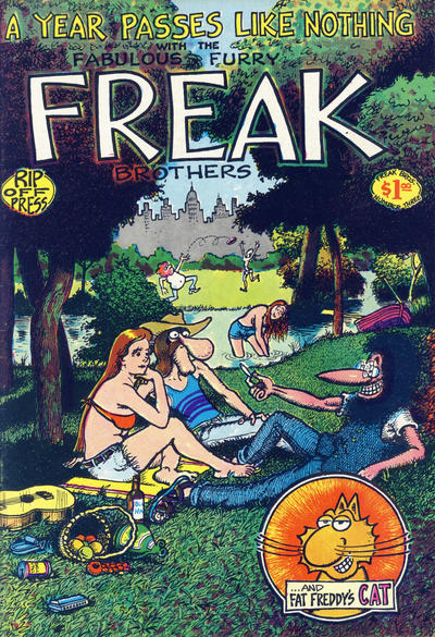Cover for The Fabulous Furry Freak Brothers (Rip Off Press, 1971 series) #3 [2.95 USD 10th print]