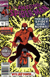 Cover for The Amazing Spider-Man (Marvel, 1963 series) #341 [Direct Edition]