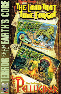 Cover Thumbnail for Edgar Rice Burroughs' The Land That Time Forgot/Pellucidar: Terror from the Earth's Core (American Mythology Productions, 2017 series) #1 [Postcard Cover]
