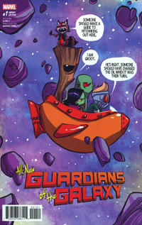 Cover Thumbnail for All-New Guardians of the Galaxy (Marvel, 2017 series) #1 [Skottie Young Marvel Babies Variant]