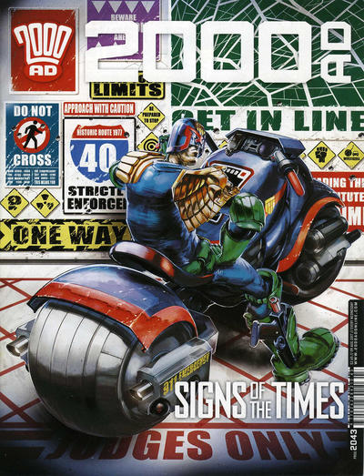 Cover for 2000 AD (Rebellion, 2001 series) #2043