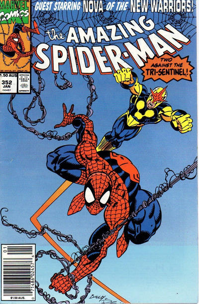 Cover for The Amazing Spider-Man (Marvel, 1963 series) #352 [Direct Edition]