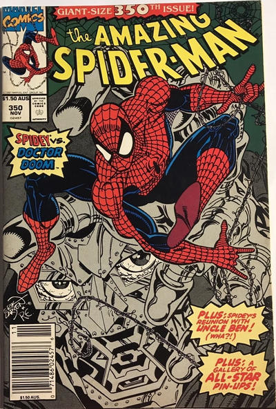 Cover for The Amazing Spider-Man (Marvel, 1963 series) #350 [Direct Edition]