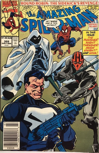 Cover for The Amazing Spider-Man (Marvel, 1963 series) #355 [Direct Edition]