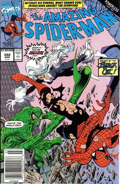 Cover for The Amazing Spider-Man (Marvel, 1963 series) #342 [Newsstand]