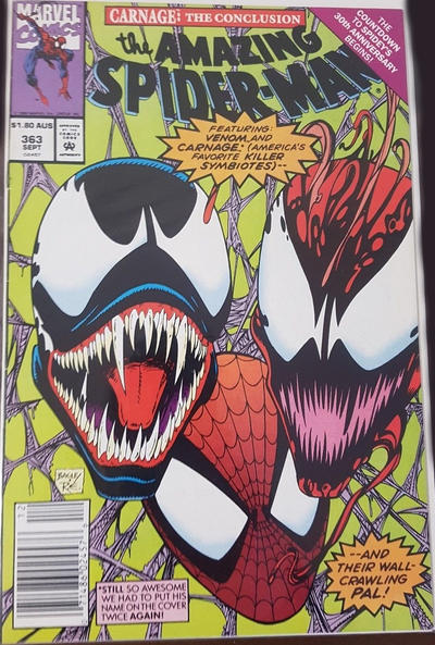 Cover for The Amazing Spider-Man (Marvel, 1963 series) #363 [Newsstand]