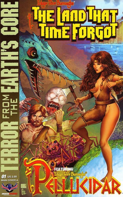 Cover for Edgar Rice Burroughs' The Land That Time Forgot/Pellucidar: Terror from the Earth's Core (American Mythology Productions, 2017 series) #1 [Kickstarter Edition]