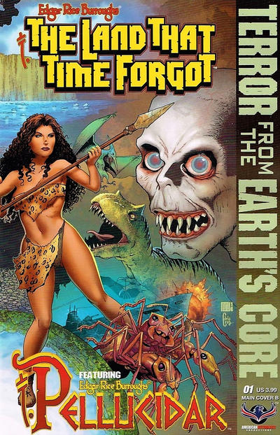 Cover for Edgar Rice Burroughs' The Land That Time Forgot/Pellucidar: Terror from the Earth's Core (American Mythology Productions, 2017 series) #1 [Main Cover A]