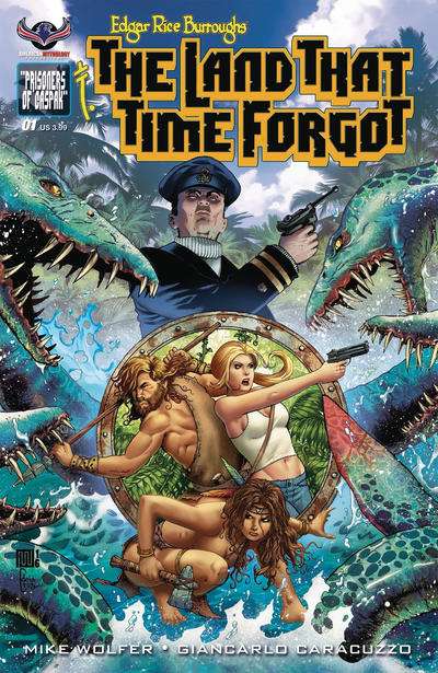 Cover for Edgar Rice Burroughs' The Land That Time Forgot (American Mythology Productions, 2016 series) #1 [Second Printing]