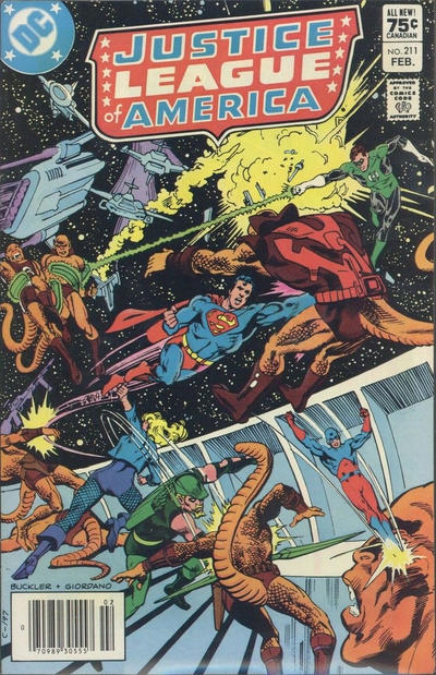 Cover for Justice League of America (DC, 1960 series) #211 [Direct-Sales]