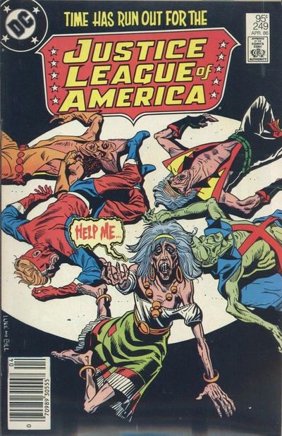Cover for Justice League of America (DC, 1960 series) #249 [Direct Edition]