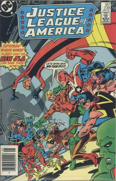 Cover for Justice League of America (DC, 1960 series) #238 [Newsstand]
