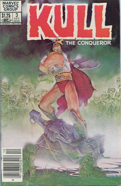 Cover for Kull the Conqueror (Marvel, 1983 series) #3 [Direct Edition]