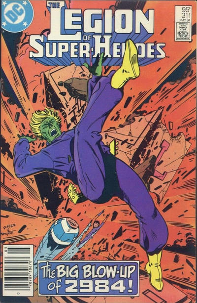 Cover for The Legion of Super-Heroes (DC, 1980 series) #311 [Direct]