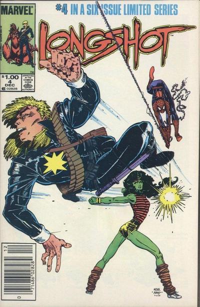 Cover for Longshot (Marvel, 1985 series) #4 [Newsstand]