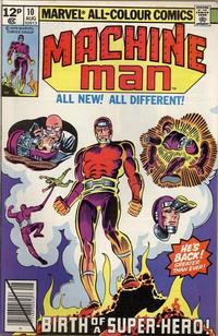 Cover Thumbnail for Machine Man (Marvel, 1978 series) #10 [British]