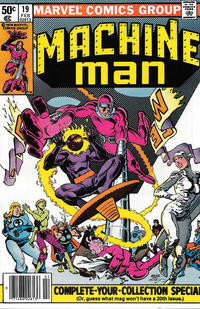 Cover Thumbnail for Machine Man (Marvel, 1978 series) #19 [Newsstand]