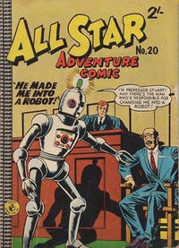 Cover Thumbnail for All Star Adventure Comic (K. G. Murray, 1959 series) #20