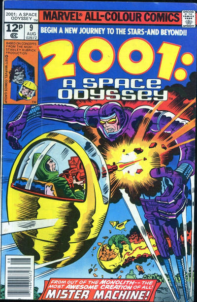 Cover for 2001, A Space Odyssey (Marvel, 1976 series) #9 [30¢ Cover Price]