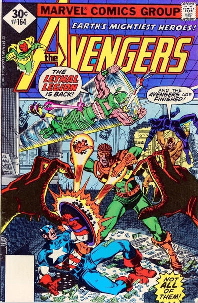 Cover for The Avengers (Marvel, 1963 series) #164 [30¢ Cover Price]
