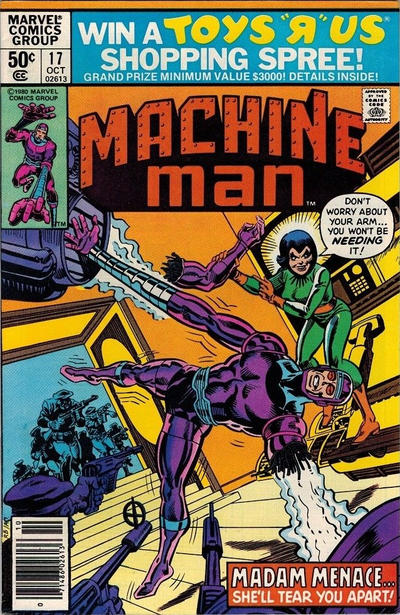 Cover for Machine Man (Marvel, 1978 series) #17 [Direct]